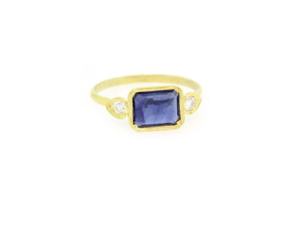 ILA Gold Sapphire and Diamond Ring