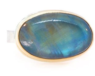 Jamie Joseph Jewelry Designs Oval Rainbow Moonstone Ring JD90