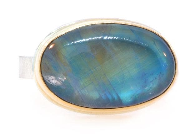 Jamie Joseph Jewelry Designs Oval Rainbow Moonstone Ring