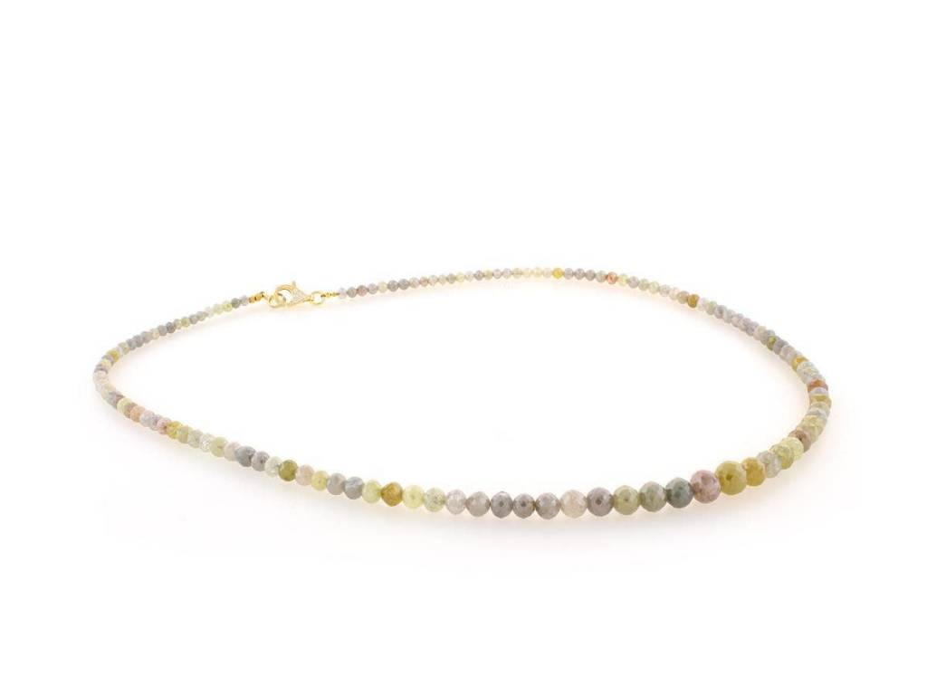 Trabert Goldsmiths Multi Colored Opaque Diamond Necklace