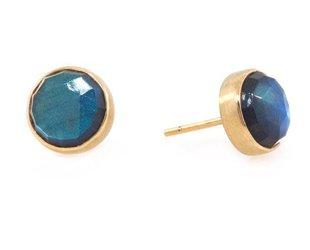 Jamie Joseph Jewelry Designs Rose Cut Labradorite Stud Earrings JD102