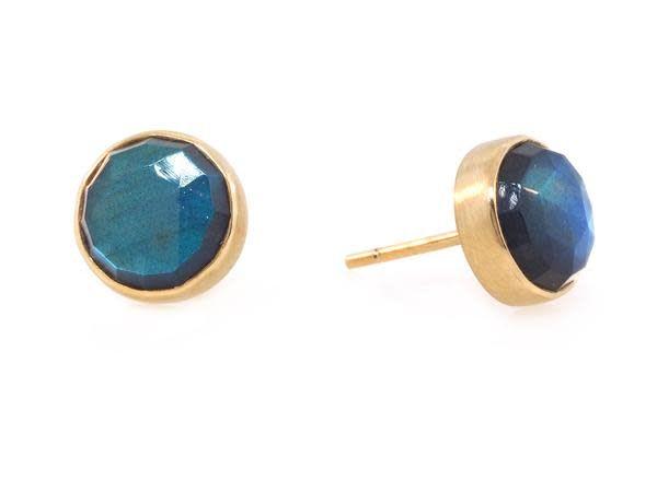 Jamie Joseph Jewelry Designs Rose Cut Labradorite Stud Earrings