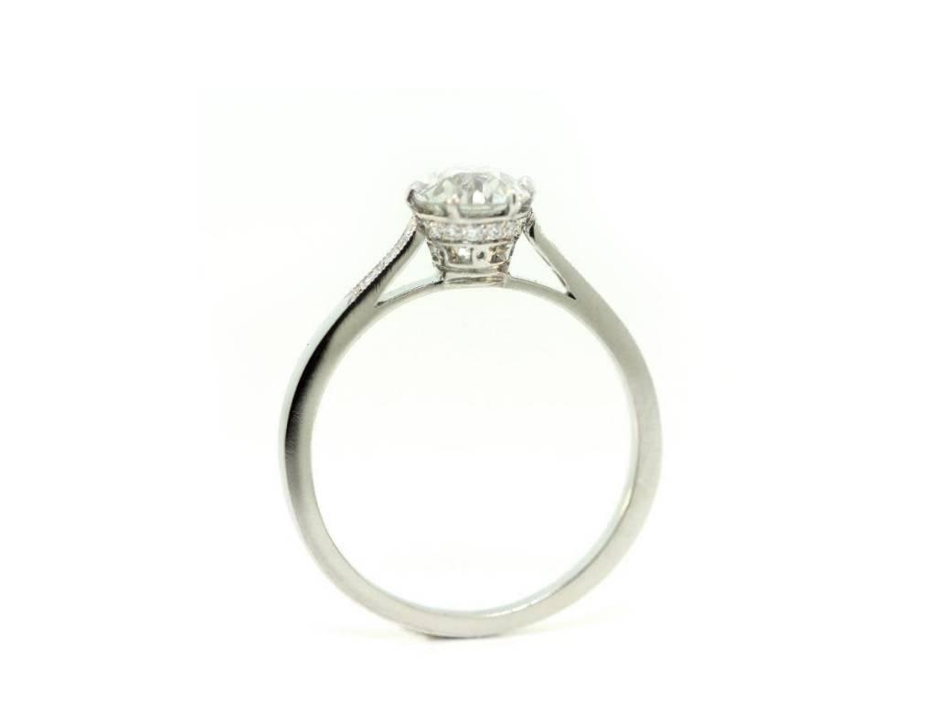 Sebastien Barier 0.85ct Old European Diamond Engagement Ring