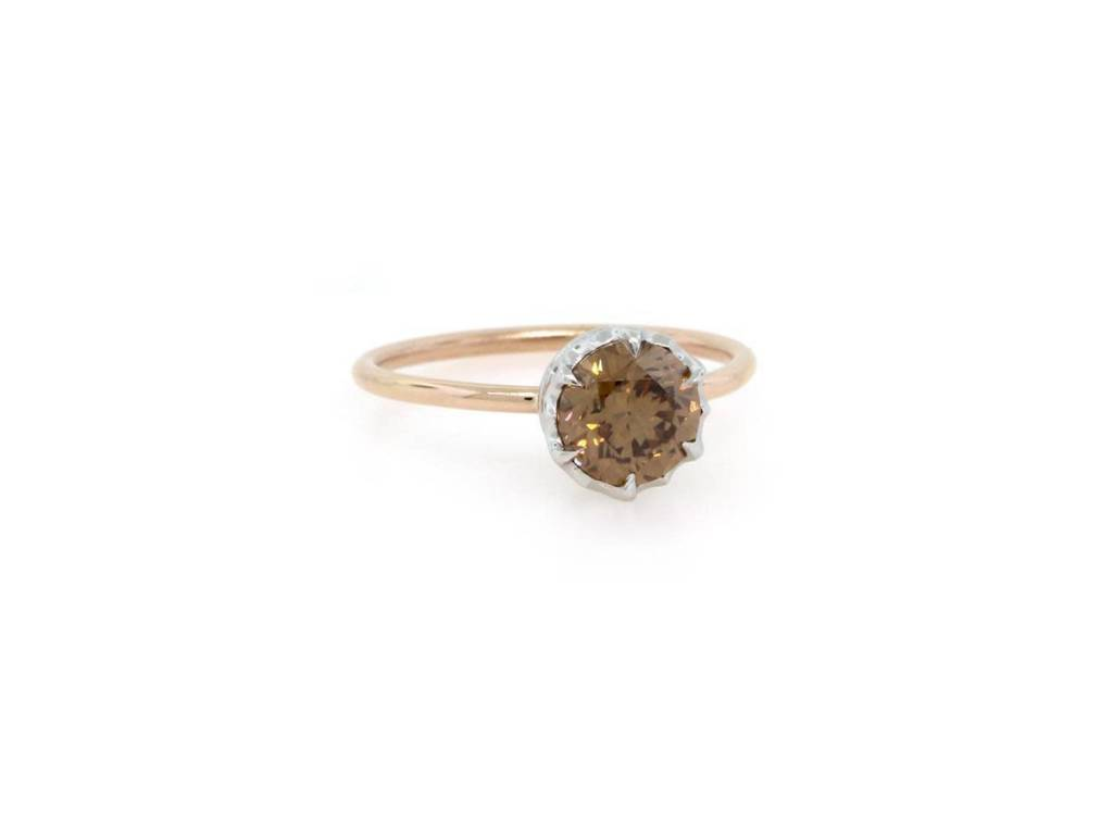Trabert Goldsmiths 1.31ct Champagne Diamond Ring