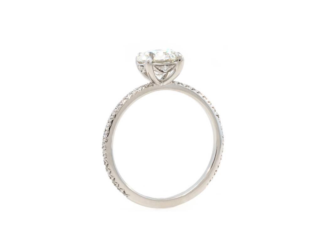 Trabert Goldsmiths 1.20ct I SI1 Diamond Classic 4 Prong Platinum Ring