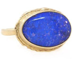 Jamie Joseph Jewelry Designs Oval Boulder Opal Ring JD101