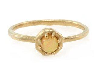 Lauren Wolf Small Opal Octagon Ring LW5