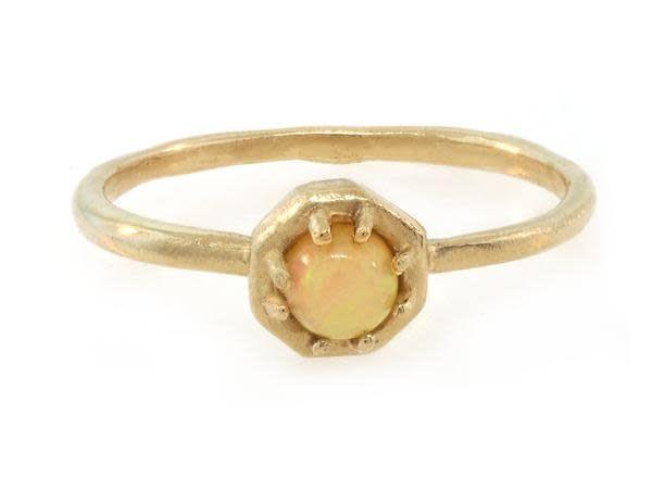 Lauren Wolf Small Opal Octagon Ring