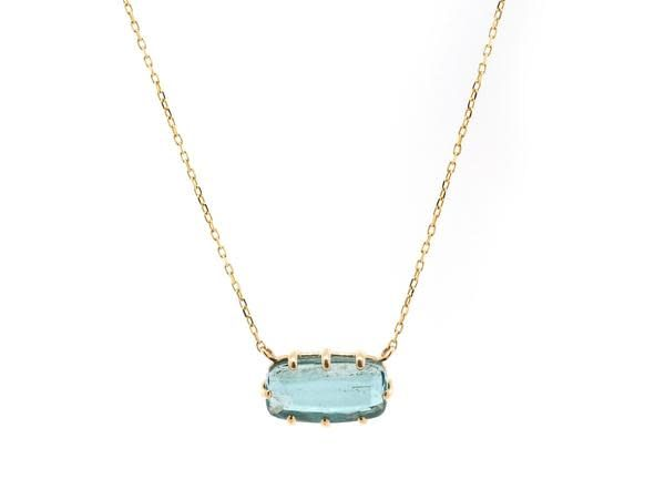 Jamie Joseph Jewelry Designs Multi Prong Blue Tourmaline Necklace
