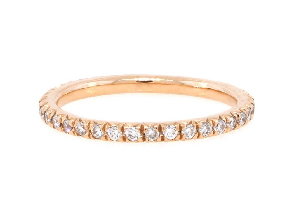 Trabert Goldsmiths French Pave Diamond Pinky Ring
