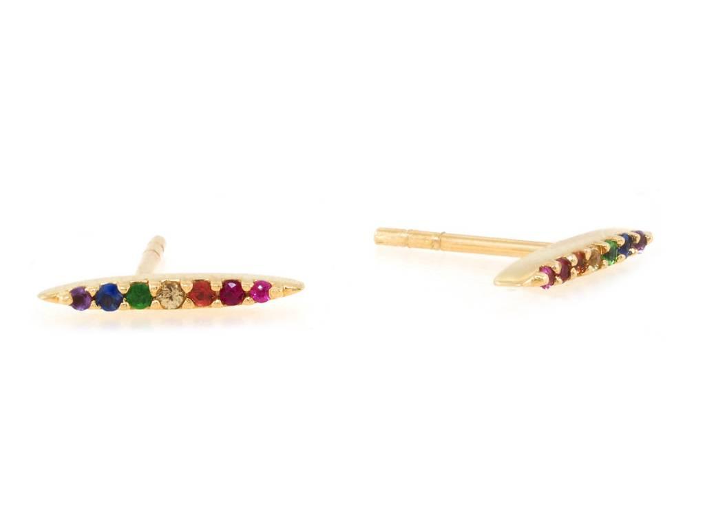Celine Daoust Rainbow Sapphire Stud Earrings