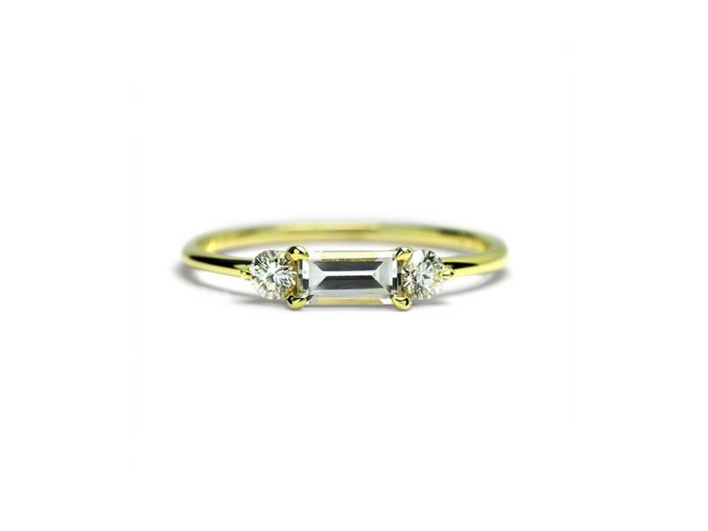 ILA Maddox White Sapphire and Diamond Ring