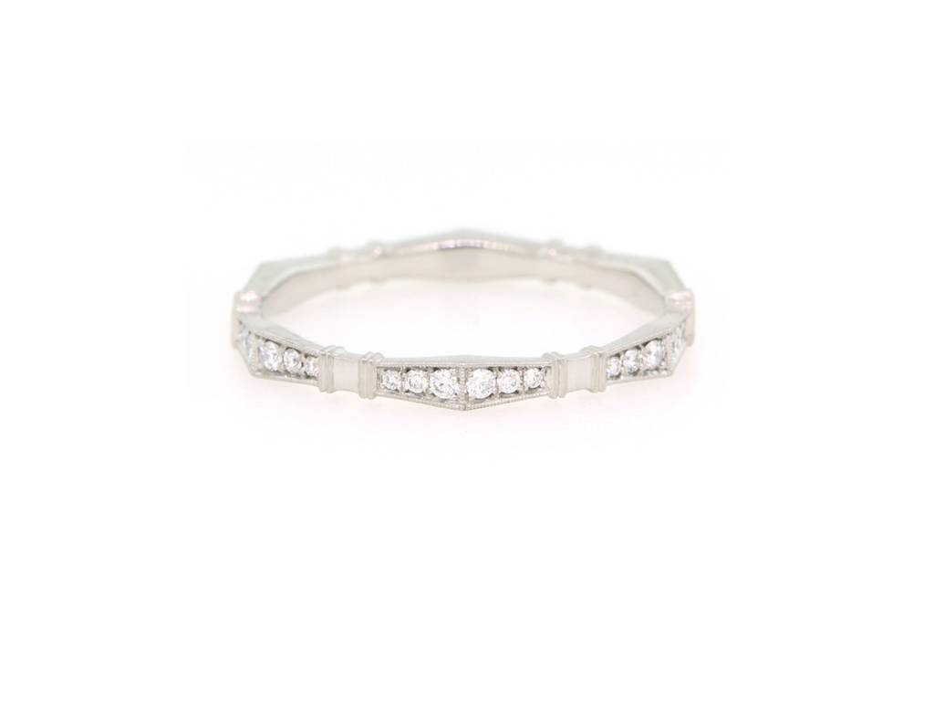 Erika Winters 'Imogen' Diamond Platinum Eternity Band