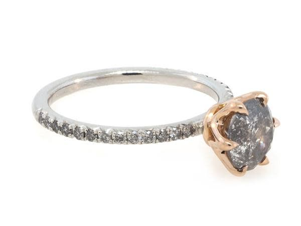 Trabert Goldsmiths 1.35ct Grey Galaxy Salt & Pepper Diamond Ring