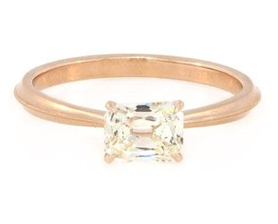 Erika Winters 0.80ct NSI2 Cushion Dia Laurel Ring EW15