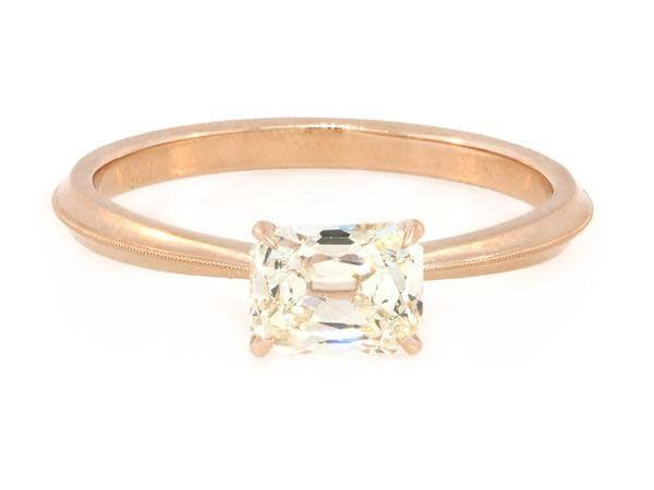Erika Winters 0.80ct NSI2 Cushion Diamond Laurel Ring