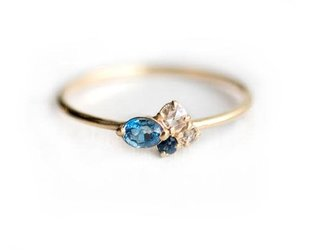 Melanie Casey Blueberry Mini Sapphire Cluster Ring ME6