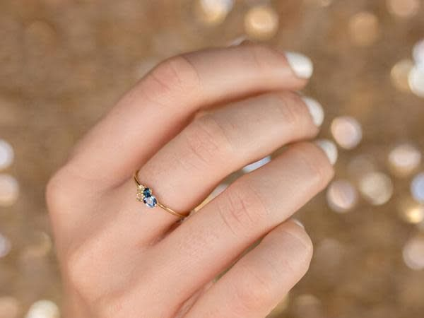 Melanie Casey Blueberry Mini Sapphire Cluster Ring