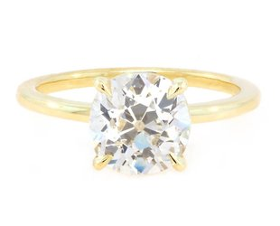 Trabert Goldsmiths 2ct KVS2 Old Mine Diamond Aura Ring E1399