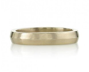 Single Stone 4mm Natural White Gold 'Henry' Ring