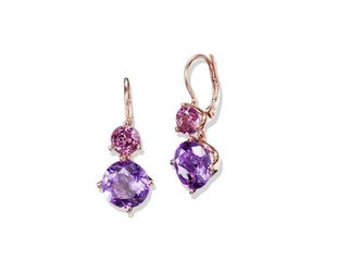 Jane Taylor Amethyst and Garnet Drop Earrings JT13