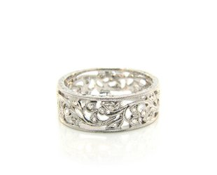 Beverley K Collection Floral Diamond Band AB271