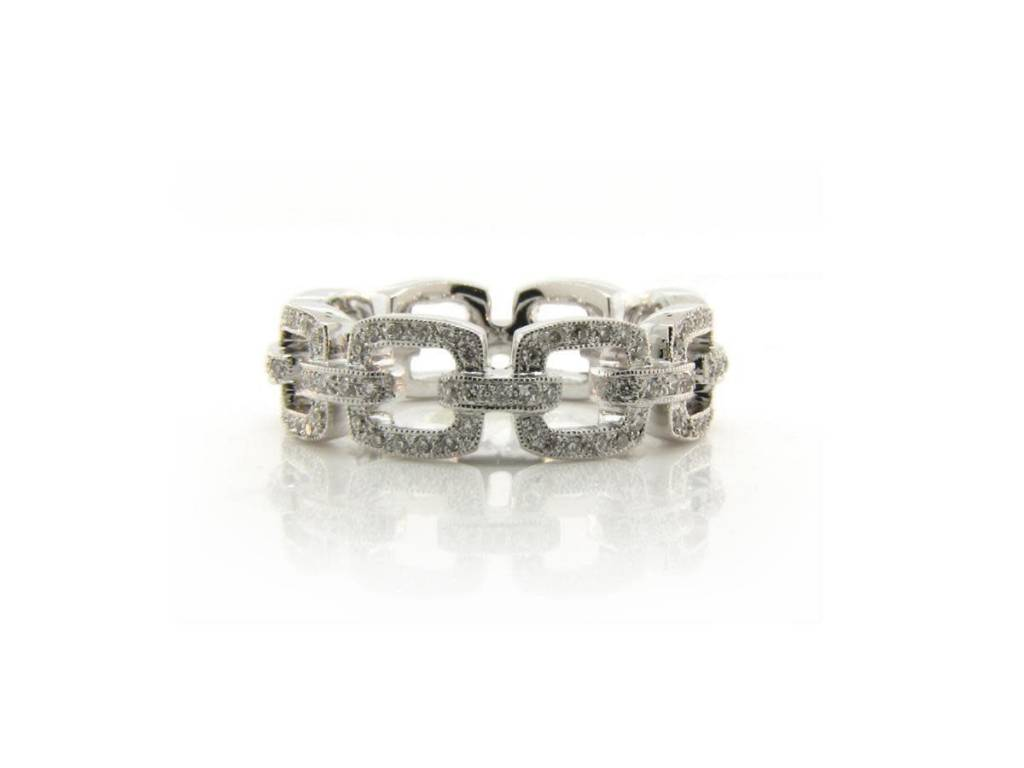 Beverley K Collection Cushion Link Diamond Eternity Band: Link Diamond Wedding Band At Reisefeber.org