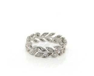 Beverley K Collection Leaf Pattern Eternity Band AB174