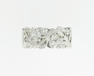 Beverley K Collection Floral Diamond Band AB25
