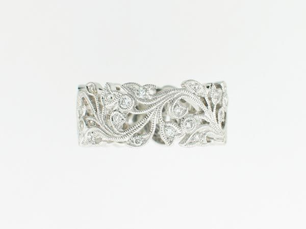 Beverley K Collection Floral Diamond Band