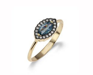 Sorellina Marquise Blue Sapphire Ring SOR2