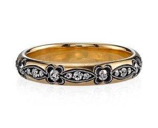 Single Stone Oxidized Dia Makayla Eternity Band SI131
