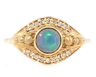 Celine Daoust Opal and Diamond Eye Ring CE2