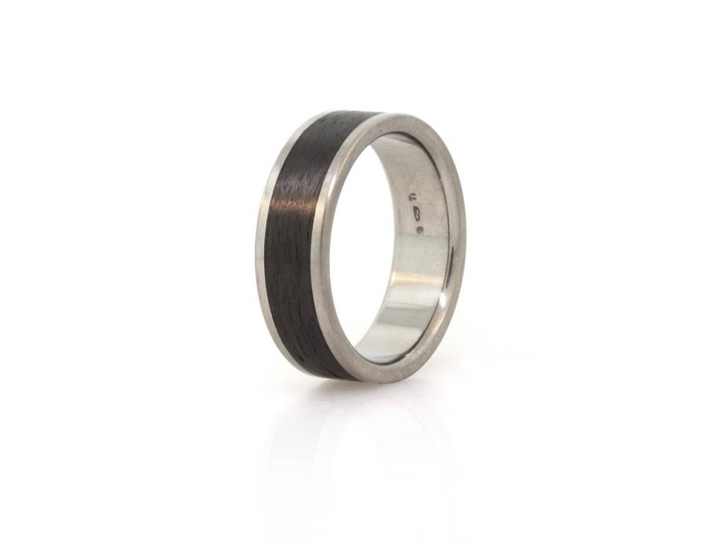 Jerry Spaulding Flat Top Titanium and Carbon Fiber Ring
