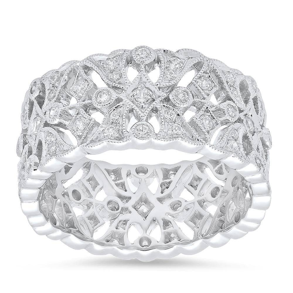 Beverley K Collection Wide Pave Diamond Band