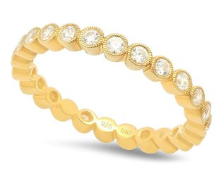 Beverley K Collection Diamond Bezel Eternity Band AB445