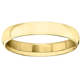 Guertin Brothers 4mm Half Round 18k Gold Band GU47