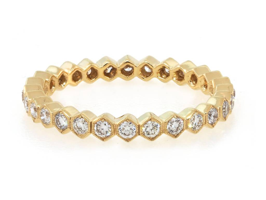 Beverley K Collection Diamond Hexagonal Eternity Band