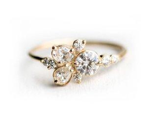 Melanie Casey Stars at Eventide Diamond Cluster Ring ME12