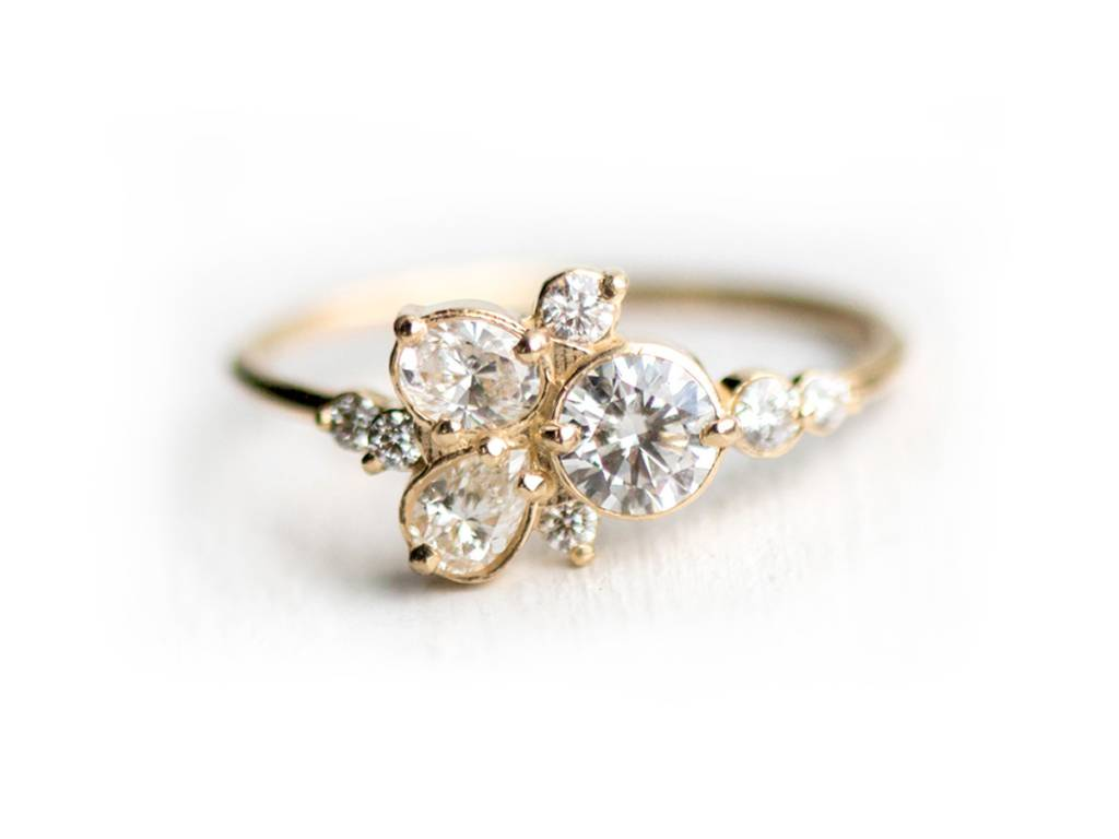 Melanie Casey Stars at Eventide Diamond Cluster Ring