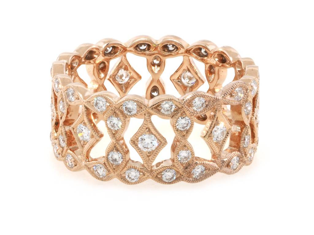 Beverley K Collection Wide Marquise Diamond Band