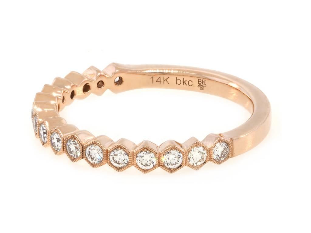 Beverley K Collection Hexagonal Diamond Half Eternity Band