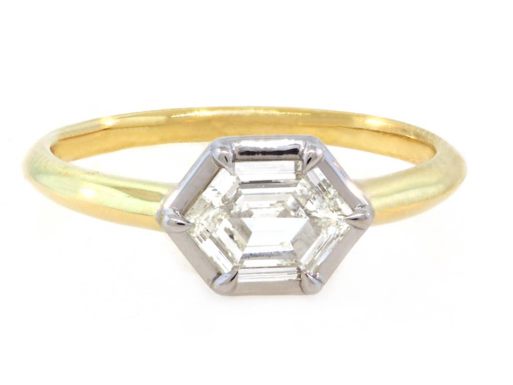 Trabert Goldsmiths 0.56ct IVS Stella Hexagonal Diamond Ring
