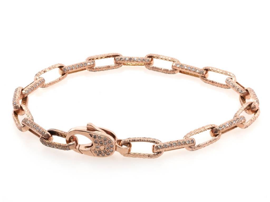 Trabert Goldsmiths Diamond Pave Link Bracelet