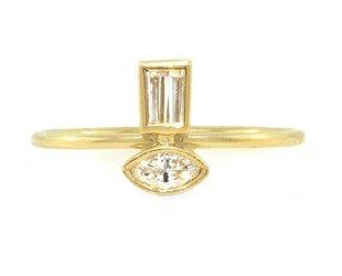 Amrapali Double Diamond Mini Totem Ring A69