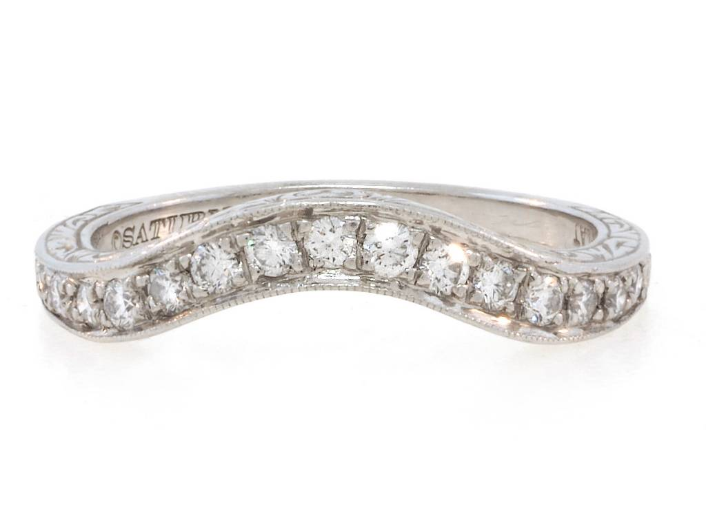Trabert Goldsmiths Vintage Diamond Curved Band