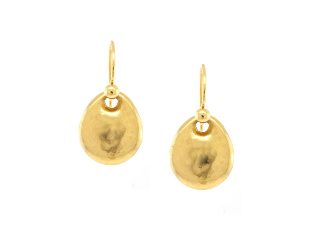Kothari Pear Shaped Disc Earrings