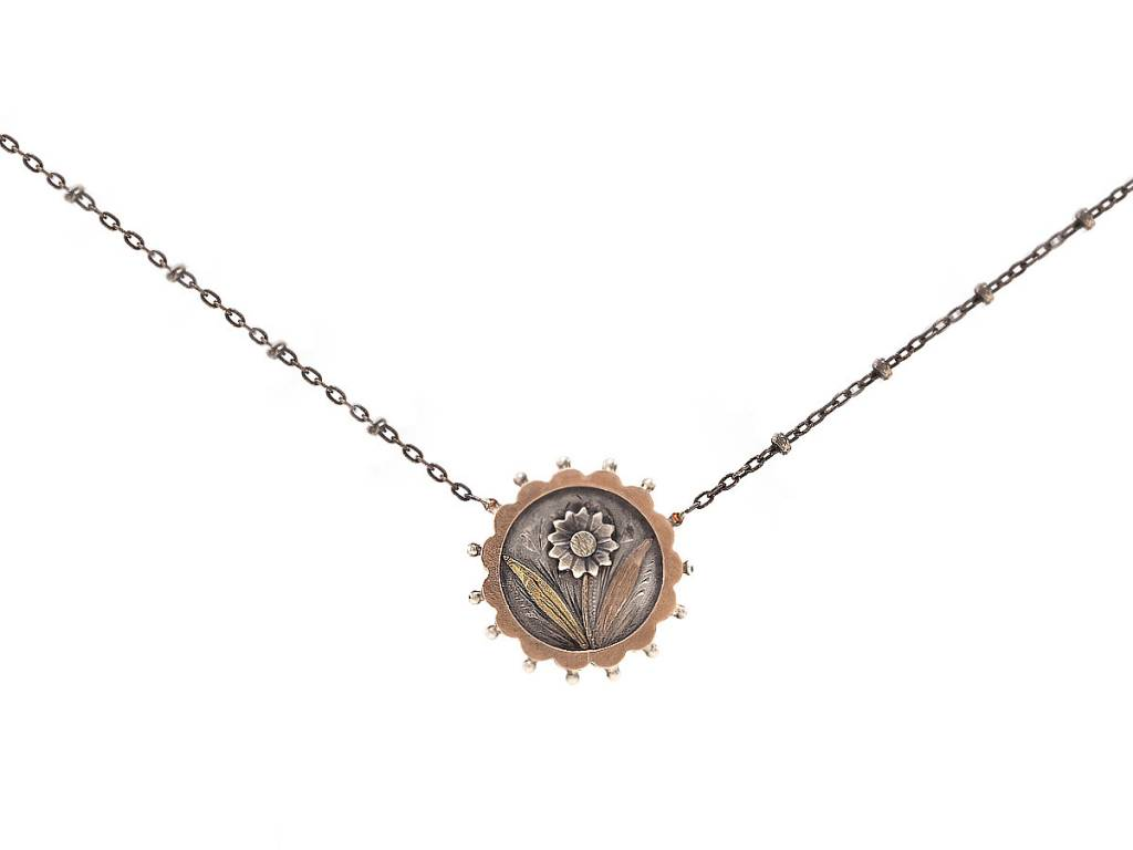 Trabert Goldsmiths Antique Daisy Pendant