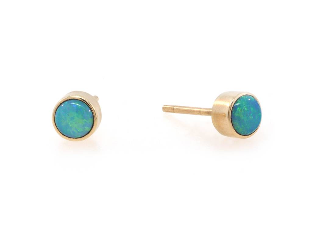 Jamie Joseph Jewelry Designs Australian Green Opal Earrings