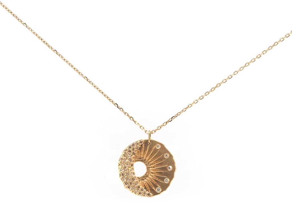 Celine Daoust Sun & Moon Diamond Pendant